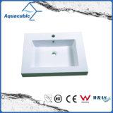 Bacino bianco moderno di Polymarble della stanza da bagno