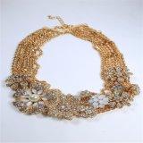 De nieuwe Armband van de Oorring van de Halsband van de Juwelen van de Manier van de Bloem van de Stenen van het Punt Acryl