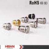 HBAN CE RoHS (19mm) Ring-iluminación momentánea pestillos a prueba de vandalismo Empuje el interruptor de botón