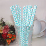 Disposable Party Supply Paper Striped Straw