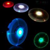 Disco del vuelo del LED, por la tarde en que interruptor ligero abierto