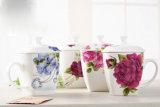 Чашка чая фарфора с печатание цветка для подарков