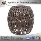 健康なFurnir T-038の特権の国際的な樹脂の柳細工の円形の腰掛け