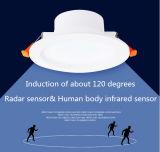 Détecteur radar 5W 7W DEL intelligente Downlight