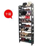 Reihe-Regal-erstaunliche Plastikschuh-Zahnstange des Schuh-Organisator-Standplatz-10