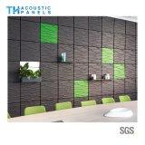 Panneau de mur 3D insonorisé décoratif intérieur de fibre de polyester de Retartant de flamme pour le fond
