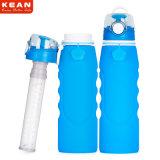 Cinque la Largo-Bocca BPA di colori 1L libera la bottiglia di acqua di filtrazione del silicone ultra