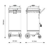 Granallado de vacío Máquina con polvo desmontable contenedor vacío Sandblaster 1200W