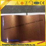 Profil de portes coulissantes en aluminium avec Crystal couleur d'électrophorèse