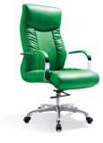 까만 형식 PU 가죽 최고 뒤 연약한 시트 회전 의자