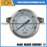 Calibre de pressão enchido líquido do aço inoxidável