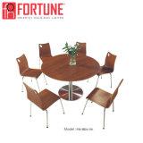 De nieuwe Donkere Bruine Moderne Houten Lijst van het Meubilair Restaurantr voor 4 Perpon (foh-BC19)