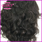 Quercy Virgem brasileira de cabelo curto de cabelo Peruca Cabelo humano Virgem de cabelo humano Peruca Cor Natural no emaranhado sem derramamento (HW-078)