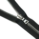 Zipper extravagante do lado do dobro da resina da bobina