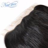 capelli umani candeggiati frontali del Virgin diritto indiano del nodo 13X4