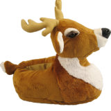 장난감 단화가 견면 벨벳 동물성 사슴에 의하여 농담을 한다