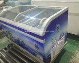 Lintee 슈퍼마켓 상업적인 냉각장치 진열장 섬 전시 가슴 냉장고