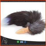 黒いオオカミの電気キツネの尾のバイブレーターのバットプラグのテールは肛門のプラグの性の製品に玉を付ける