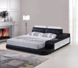 저장을%s 가진 조정가능한 Hearboard 현대 침실 가죽 침대