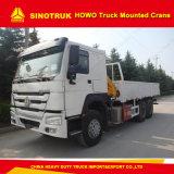 Type se pliant grue montée par camion de bras de Sinotruk HOWO de 10t