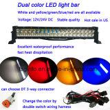 Venta caliente en nosotros barra ligera dual del color LED de 12V/24V 21.5inch White&Yellow