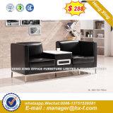 Office sofá de couro moderno Home conjuntos de sofá de madeira (HX-S256)