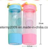 Bottiglia di acqua diritta trasparente a un solo strato creativa della plastica del tubo
