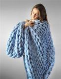 Il colore multiplo ha personalizzato la coperta della coda della sirena lavorata a maglia disegno della coda della sirena