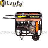 3kw Air-Cooled открытый тип тепловозный генератор с ручкой и колесами