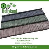 Плитка толя алюминиевого самомоднейшего камня цинка Coated стальная (деревянный тип)