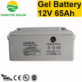 Batterie MSDS de gel du transport gratuit 65ah 12V