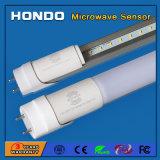 China Fabricante T8 Sensor de movimento de microondas do tubo de LED 1200mm 4ft 18W para escadas, Estacionamento, corredor, Cave