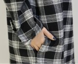 Vestido longo da camisa da manta simples das mulheres com Bel da cintura