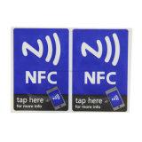 Etiqueta de papel redonda/quadrada de ISO14443A pequeno de NFC RFID com código de Qr