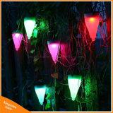 木のヤードの芝生の庭の照明のための屋外の多彩な太陽エネルギーランプLEDの地上スパイクライト