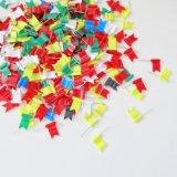 Nouveauté 30mm en plastique coloré de style drapeau ondulées Map broche