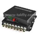 8 Convertor van de Vezel van Sc FC van het kanaal de Video Digitale Optische voor kabeltelevisie