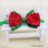 Accessori della decorazione di festa del cane del collare di Bowtie del collo dell'animale domestico di natale