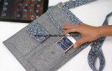 Sac à bandoulière tablette feutre personnalisé avec 2 Pokets Téléphone cellulaire