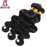 ペルーのバージンのRemyの毛の織り方の自然な人間の毛髪ボディ波の織り方