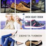 女性のためのヘビPUの甲革が付いている偶然靴のスリップ