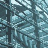 Bajo costo de la fachada exterior por el sistema de cristal de la araña de la pared de cortina del metro cuadrado
