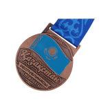 Qualitäts-kundenspezifische fromme Preis-Medaille mit Farbband