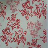 Motif de fleurs en acier peint en bobines de feuille