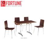 Новая темно-коричневый современной деревянной мебелью Restaurantr в таблице 4 (FOH Perpon-BC19)