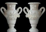 El arte de la Piedra Natural Jarrón de flores de jardín de mármol blanco de China la decoración del hogar