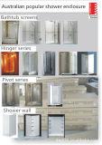 Banheiro simples padrão do estilo de Austrlian que desliza as telas de chuveiro (B13)