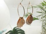 금에 있는 형식 여자 눈물방울 모양 작은 물방울 귀걸이 보석