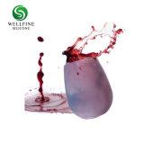 Portable de silicona de grado alimentario de la copa de vino tinto para viajes al aire libre