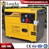 Использования в домашних условиях одна фаза 7 КВА бесшумный дизельный генератор